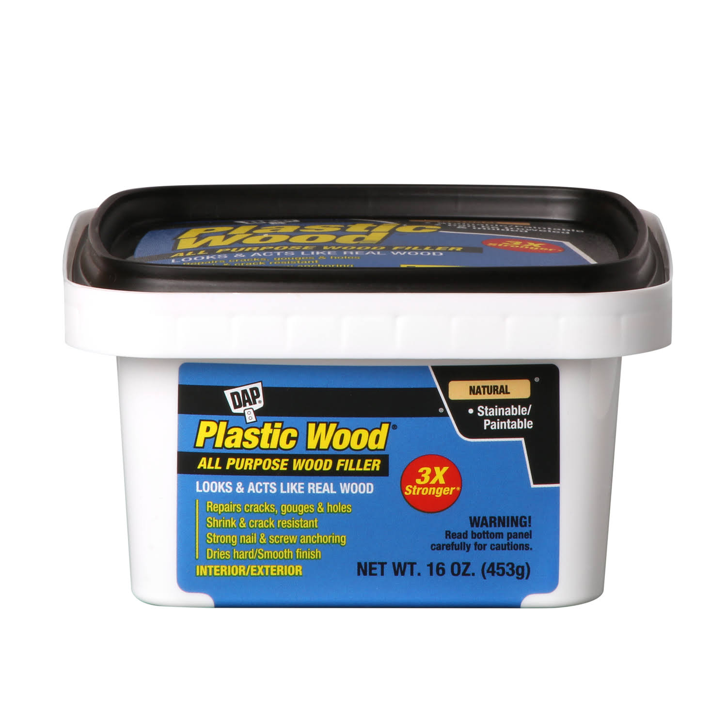 DAP Natural Plastic Wood Latex Wood Filler - 16oz