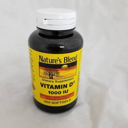 Nature's Blend Vitamin D3 Tablets, 1,000iu, 300ct 079854093308a885