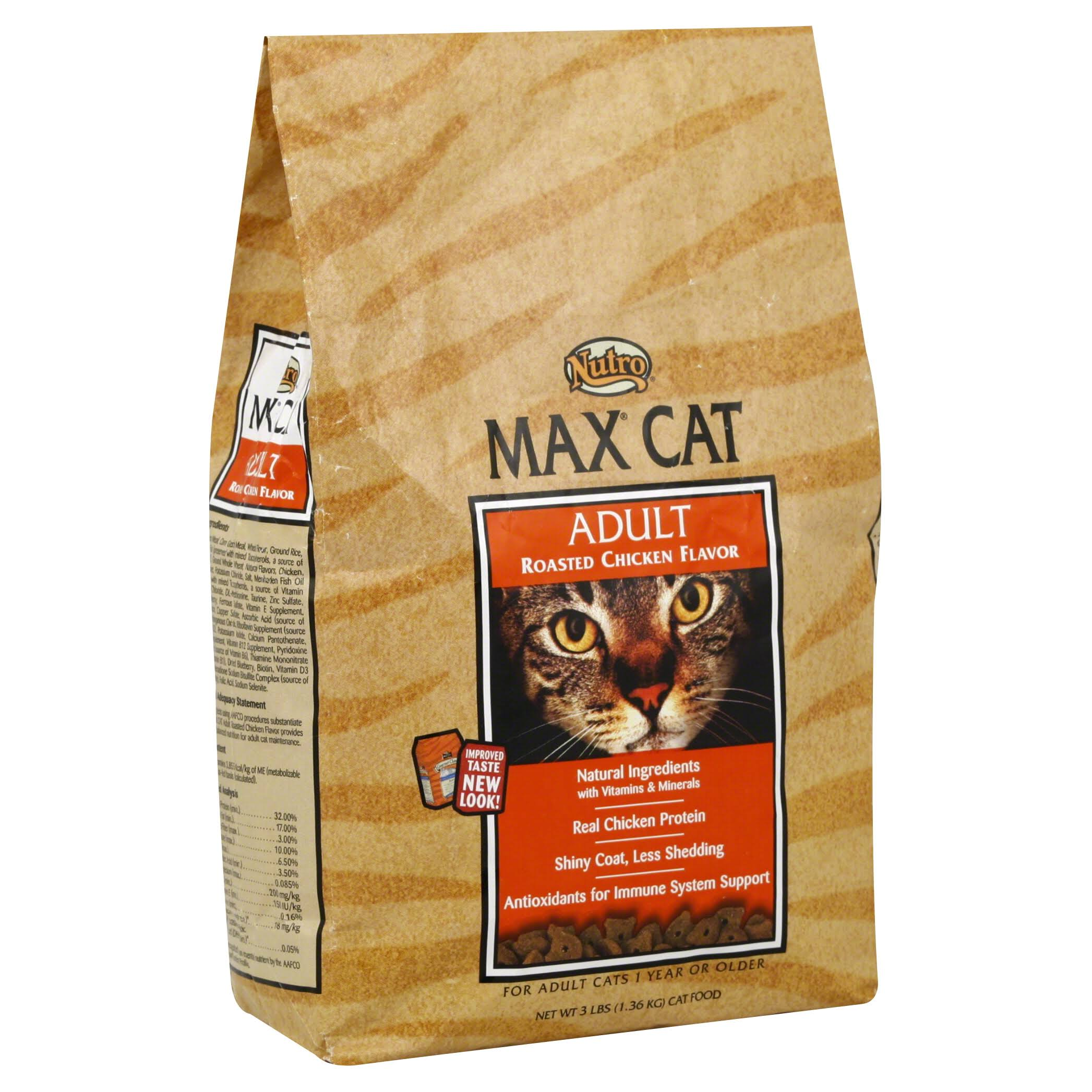 Nutro Max Cat Adult Dry Cat Food - Roasted Chicken, 3lbs