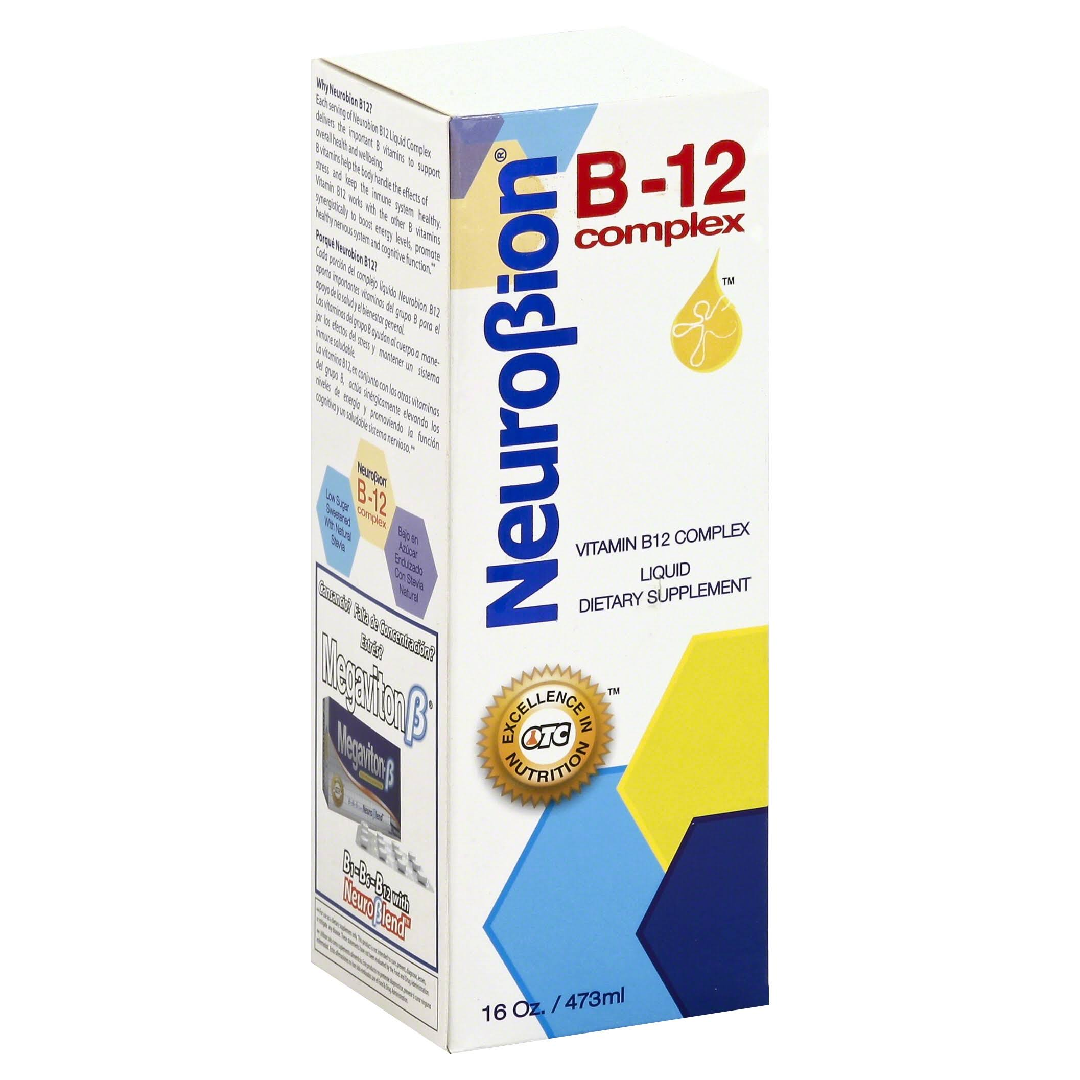 Neurobion Vitamin B12 Complex Supplement - 16oz, Liquid Citrus Flavor