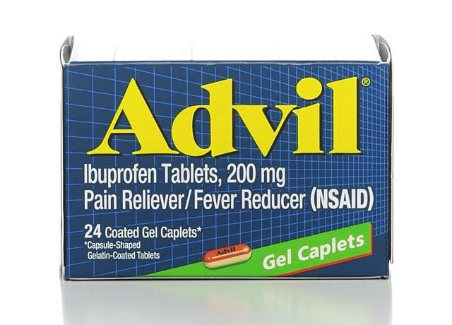 Advil Pain Reliever - 200mg, 24 Coated Gel Caplets