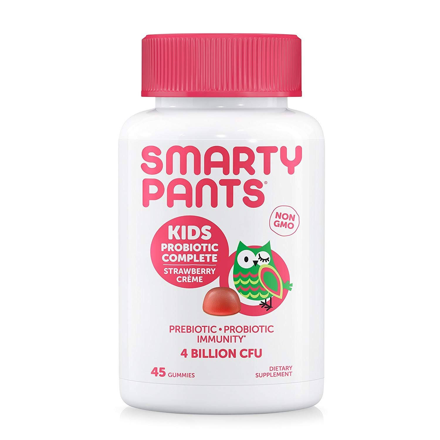 SmartyPants Kids Probiotic Gummies Supplements - Strawberry Creme, 45ct