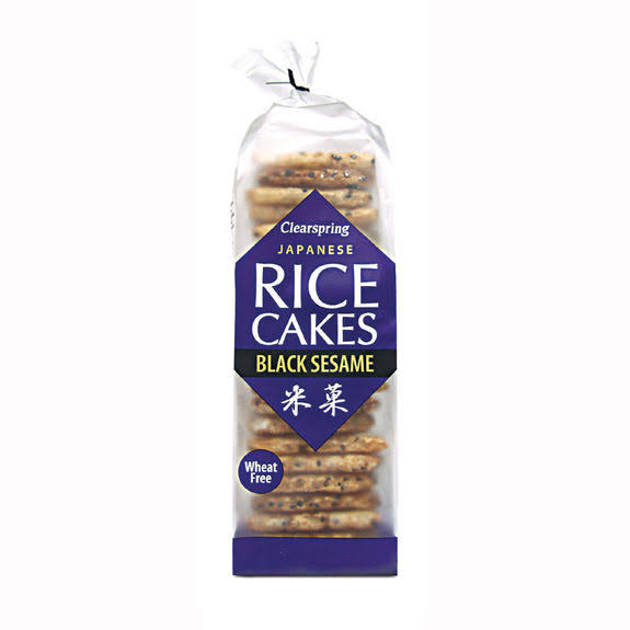 Clearspring Japanese Rice Cakes - Black Sesame, 150g