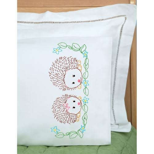 Jack Dempsey Childrens Pillowcase - Hedgehogs