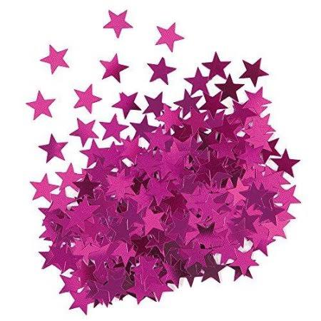 Unique Party Star Confetti Table Decoration - Metallic Pink, 0.5oz