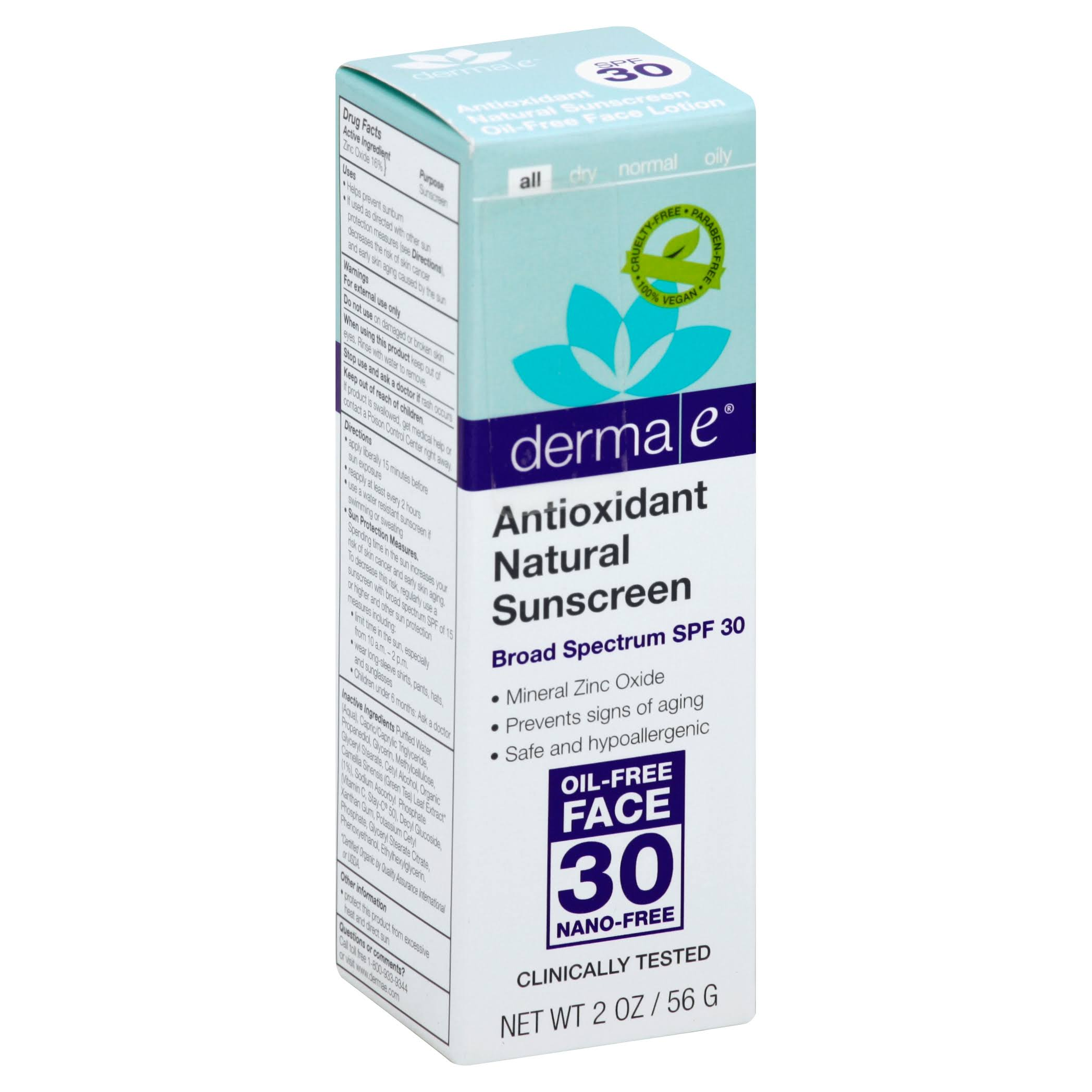 Derma E Antioxidant Natural Sunscreen - SPF 30, 56g
