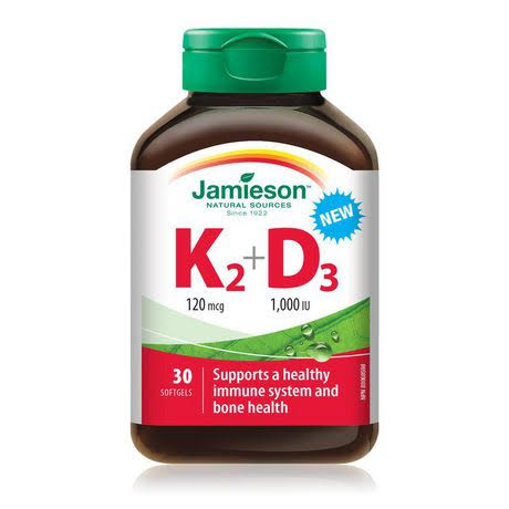 Jamieson K2 + D3 30 Softgels