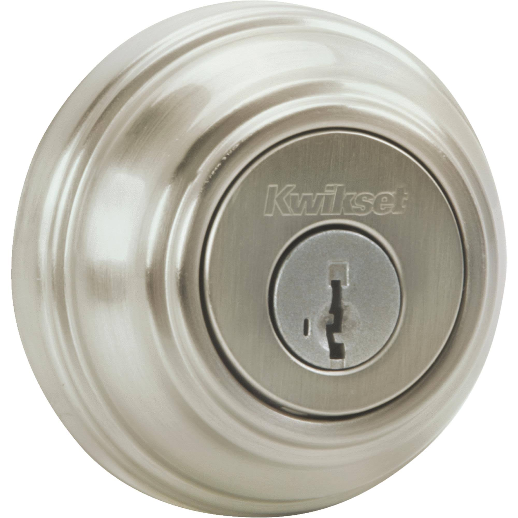 Kwikset 980 Series Single Deadbolt - Satin Nickel