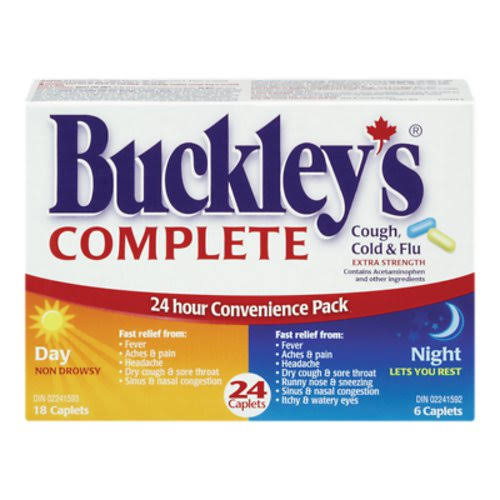 Buckley's Complete Extra Strength 24 Hour Day/Night Pack