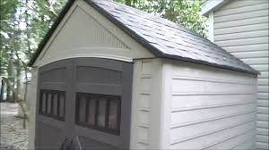 Rubbermaid Large Storage Shed Instructions by Rubbermaid Roughneck Shed Review Youtube