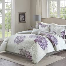 Lavender And Grey Bedding by Amazon Com Comfort Spaces U2013 Enya Comforter Set 5 Piece U2013 Purple