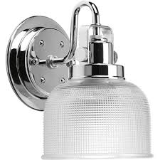 Home Depot Bathroom Vanity Sconces by Progress Lighting Archie Collection 1 Light Chrome Bath Light