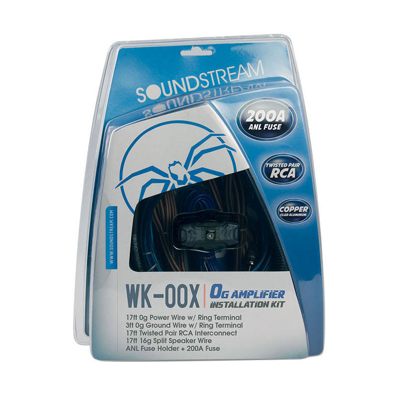 Soundstream WK-00X 0 Gauge Installation Kit W/200A ANL Fuse