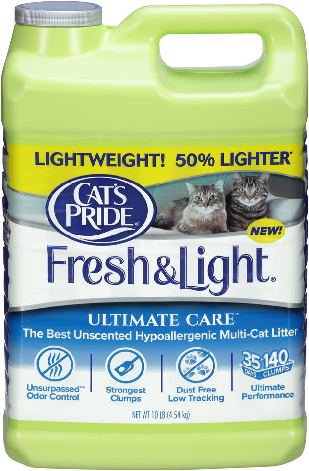 Cat's Pride Fresh & Light Cat Litter - No Scent, 10lbs