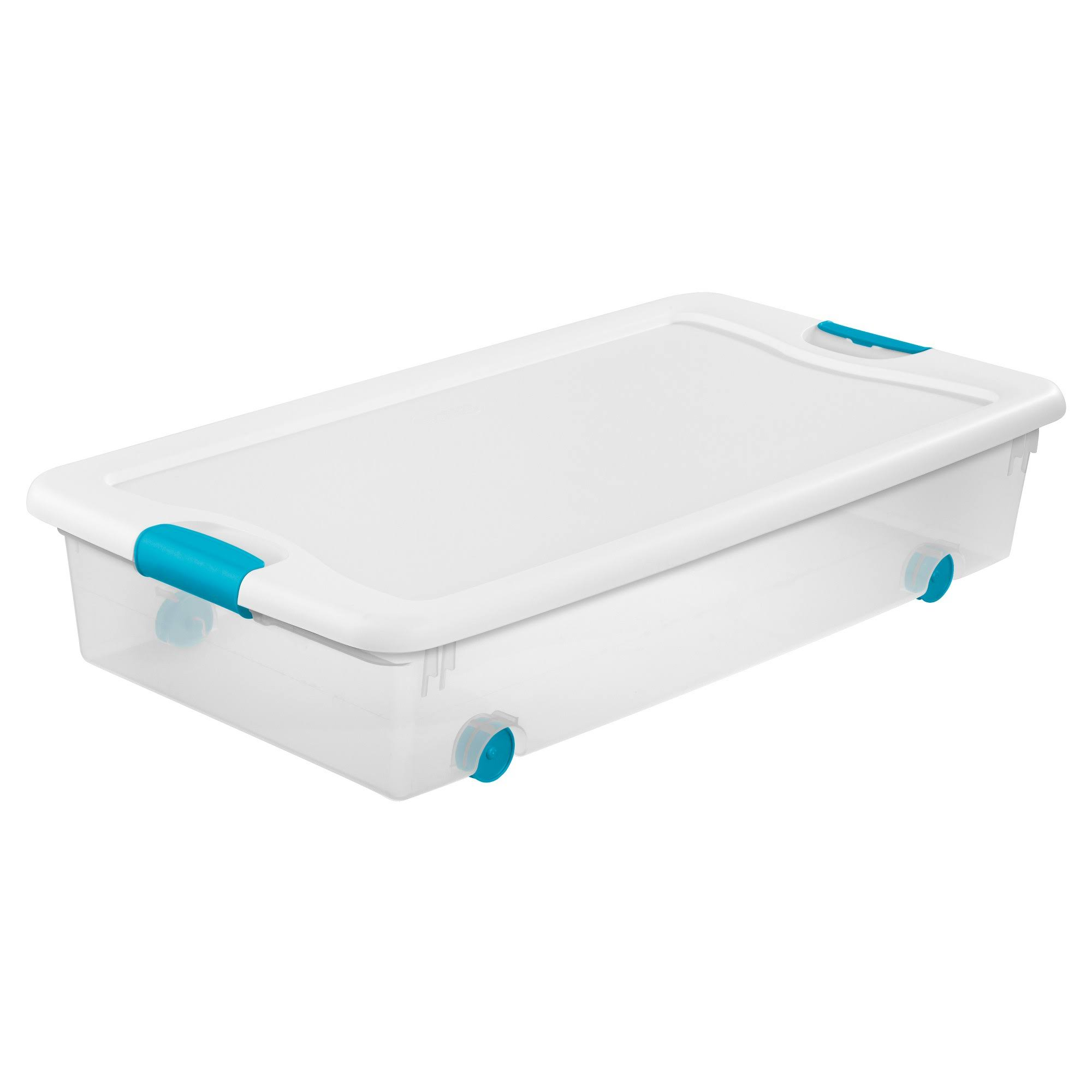 Sterilite 14988004 Latching Wheeled Storage Box - 56 Quart