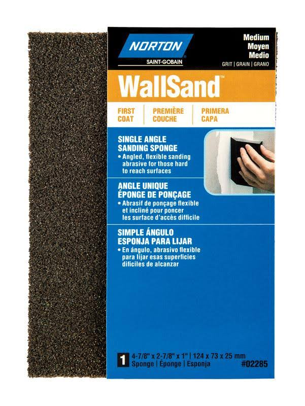 Norton Wallsand Sanding Sponge - Medium Grit