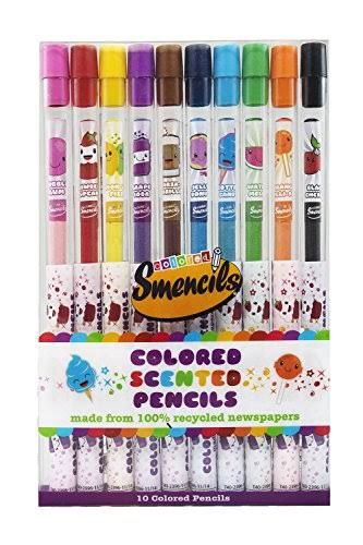 Smencils Colored Scented Pencils - 10 Pack