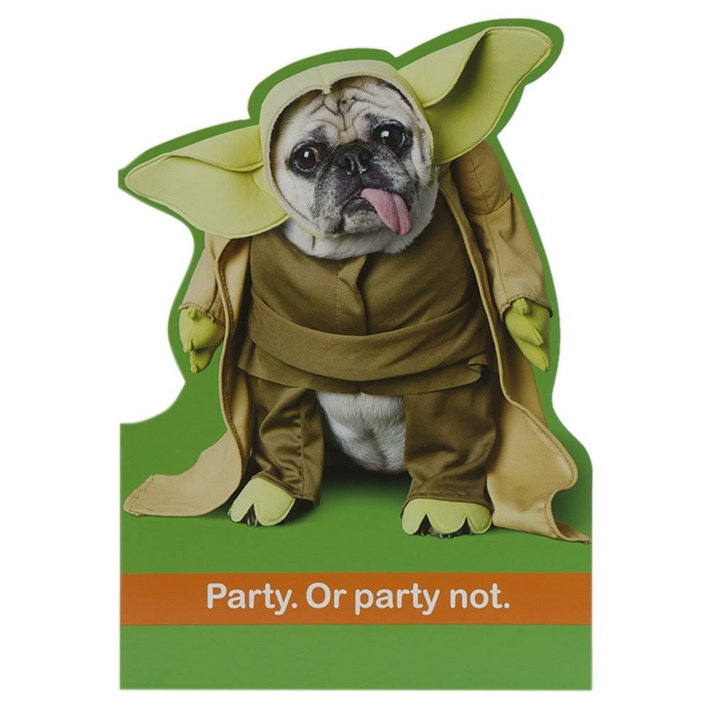 Hallmark Star Wars Birthday Card 'Party You Should' - Medium [Old Model]