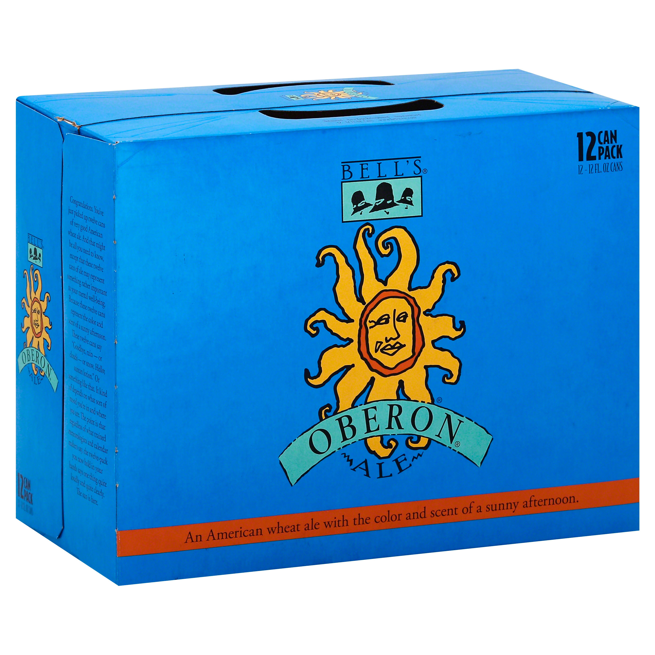 Bells Beer, Ale, Oberon, 12 Can Pack - 12 pack, 12 fl oz cans
