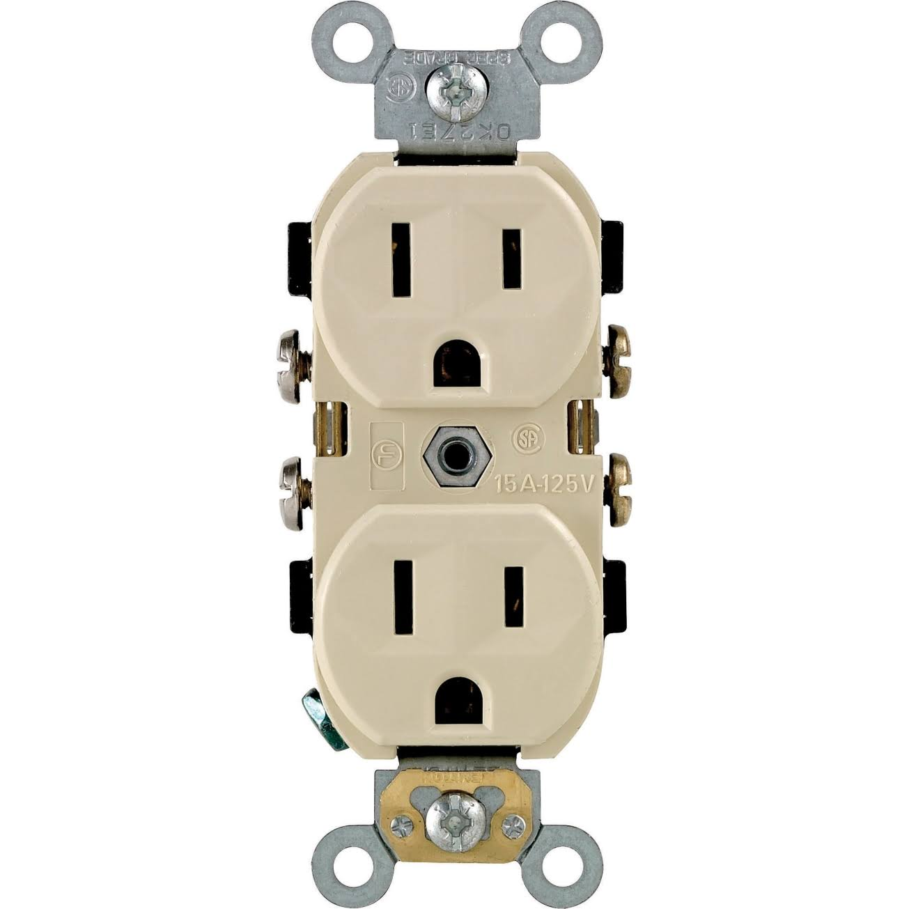 Leviton 111-BR15-00I Duplex Grounded Outlet