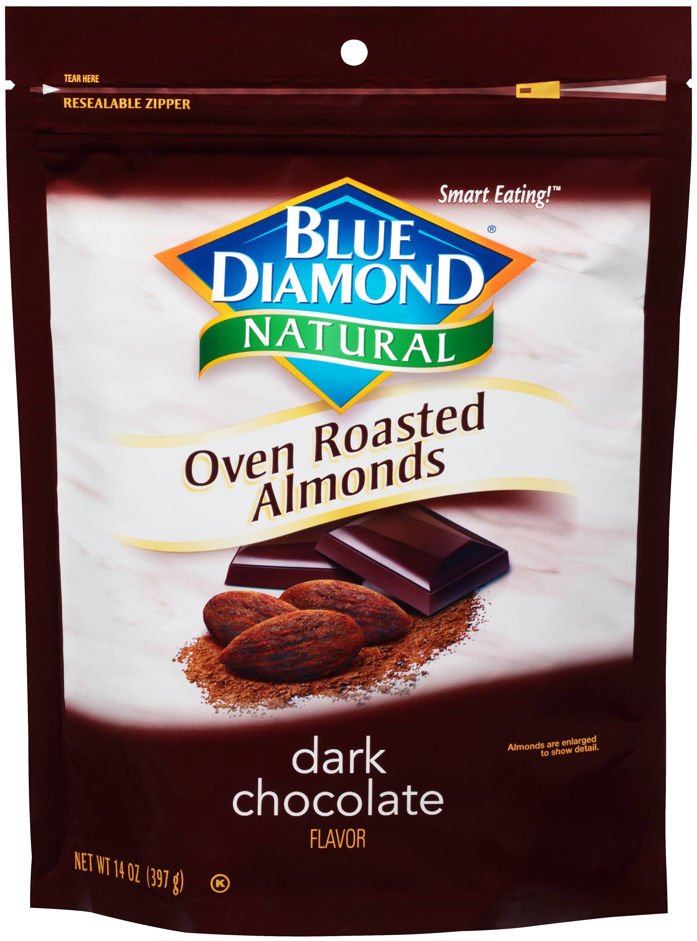 Blue Diamond Oven Roasted Almonds - Dark Chocolate, 14oz