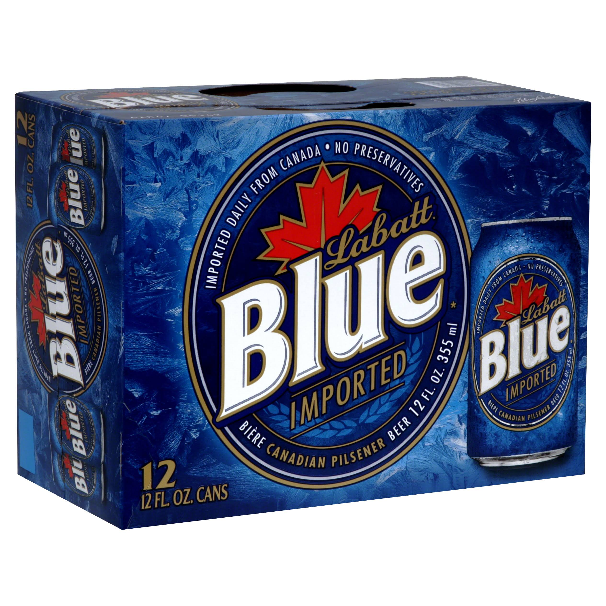 Labatt Blue Beer Canadian Pilsener Beer - 12oz, 12 Pack