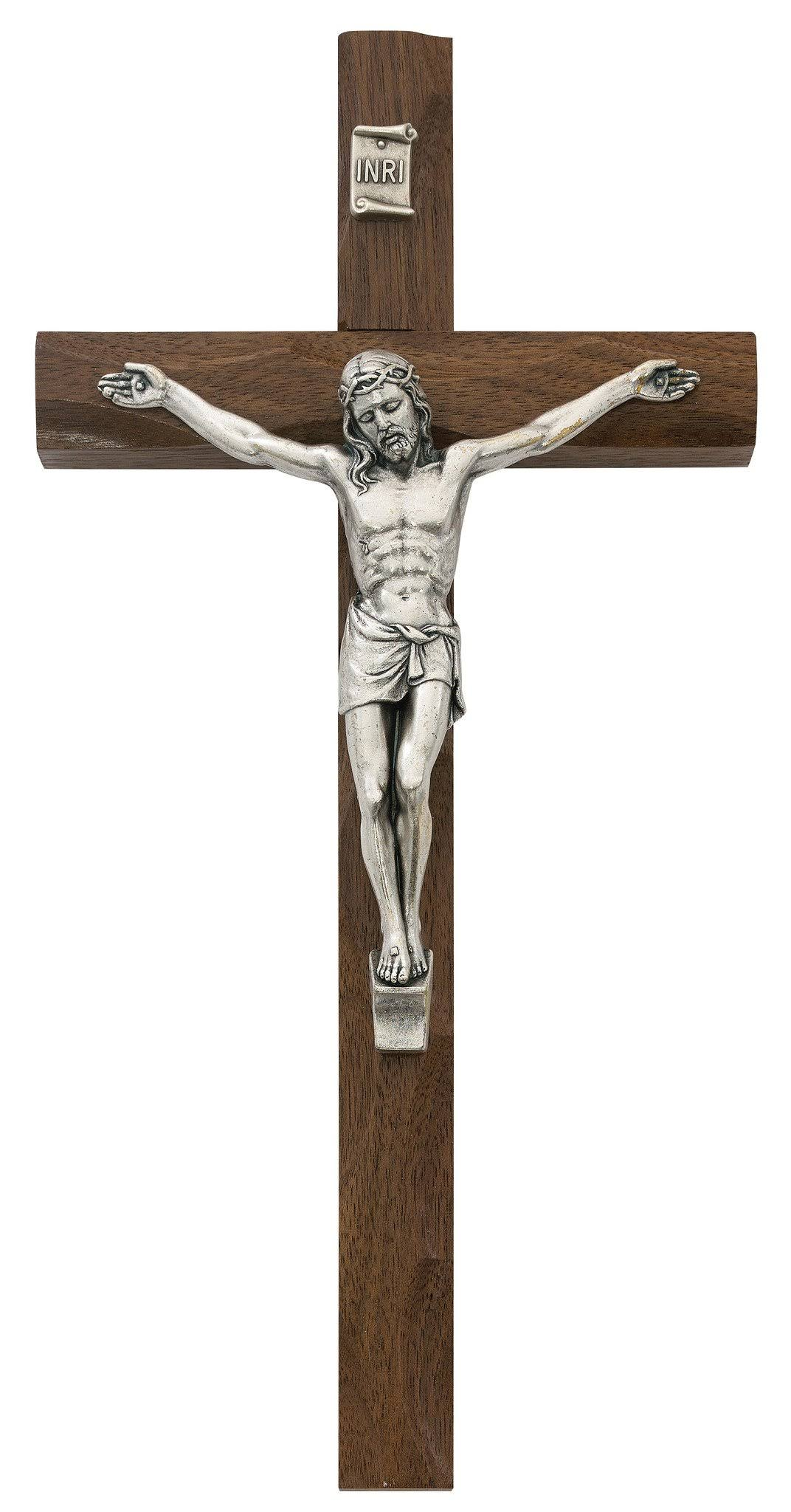 McVan 10 inch Carved Walnut Crucifix
