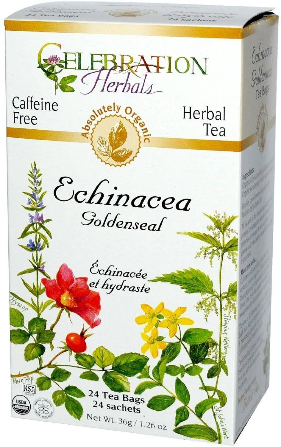 Celebration Herbals Echinacea Goldenseal Tea - 24 Tea Bags