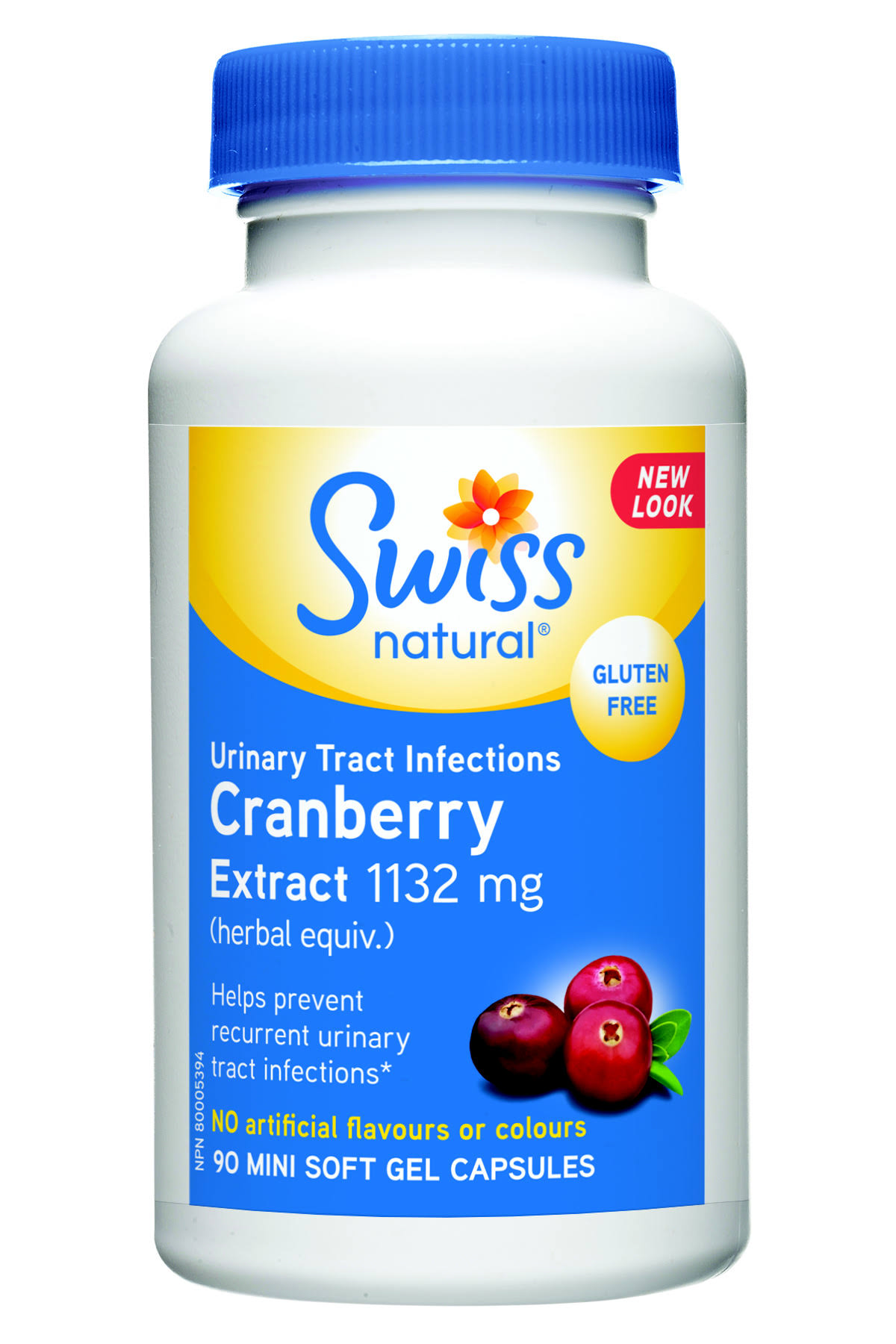 Swiss Natural Sources Cranberry Extract Supplement - 90 Mini Soft Gel Capsules