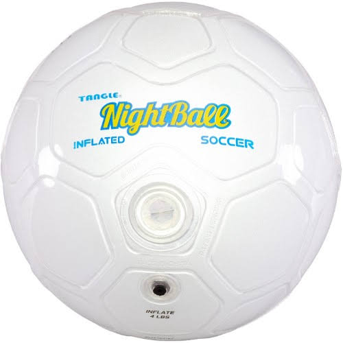 Tangle Night Soccer Ball - Size 5, White