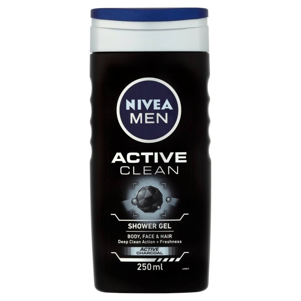 Nivea Men's Active Clean Shower Gel - 250ml