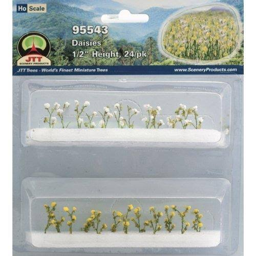 JTT Scenery Products Flowering Plants Miniature - Daisies, 5""