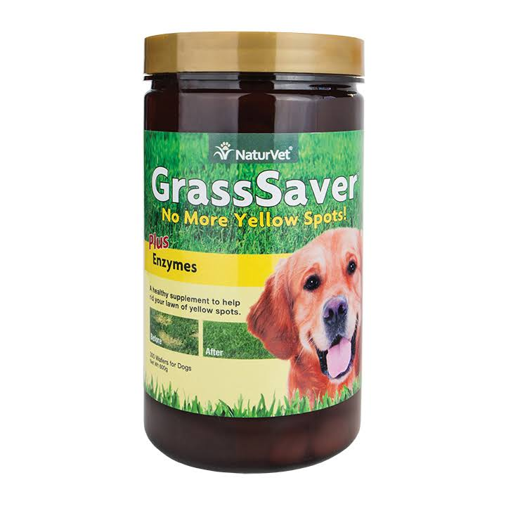 NaturVet GrassSaver Plus Enzymes for Dogs - 300 Chewable Wafers
