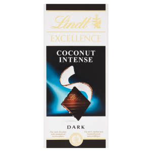 Lindt 100g Excellence Dark Coconut Intense Chocolate Bar