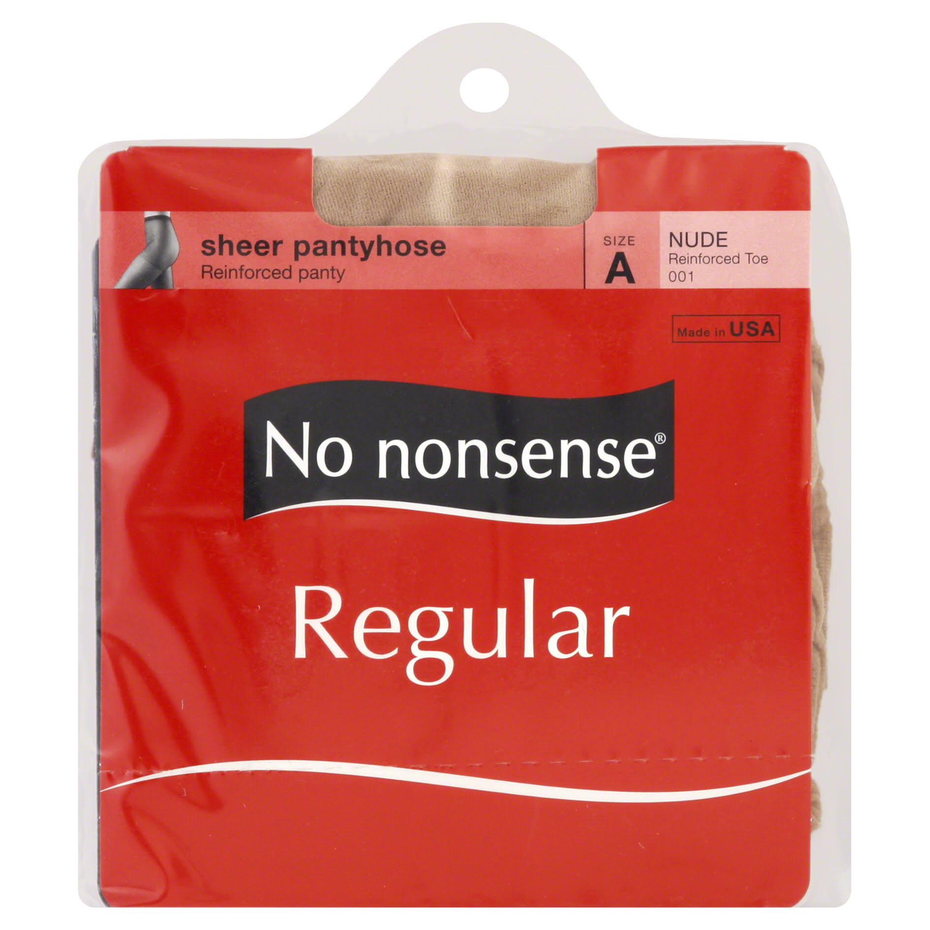 No Nonsense Regular Pantyhose - Size A, Nude