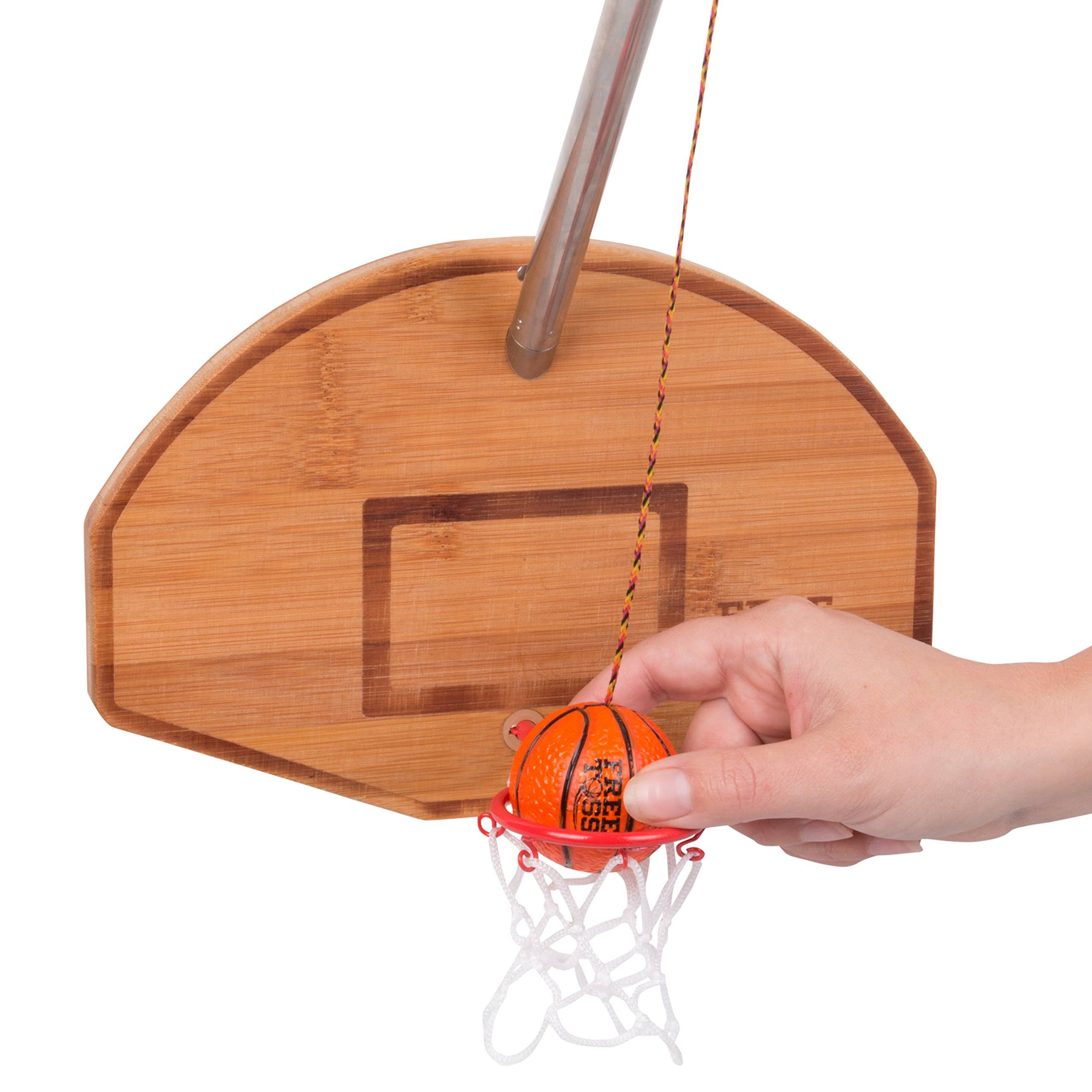 Free Toss Hoop Deluxe Swing Toss Basketball and Toss Game
