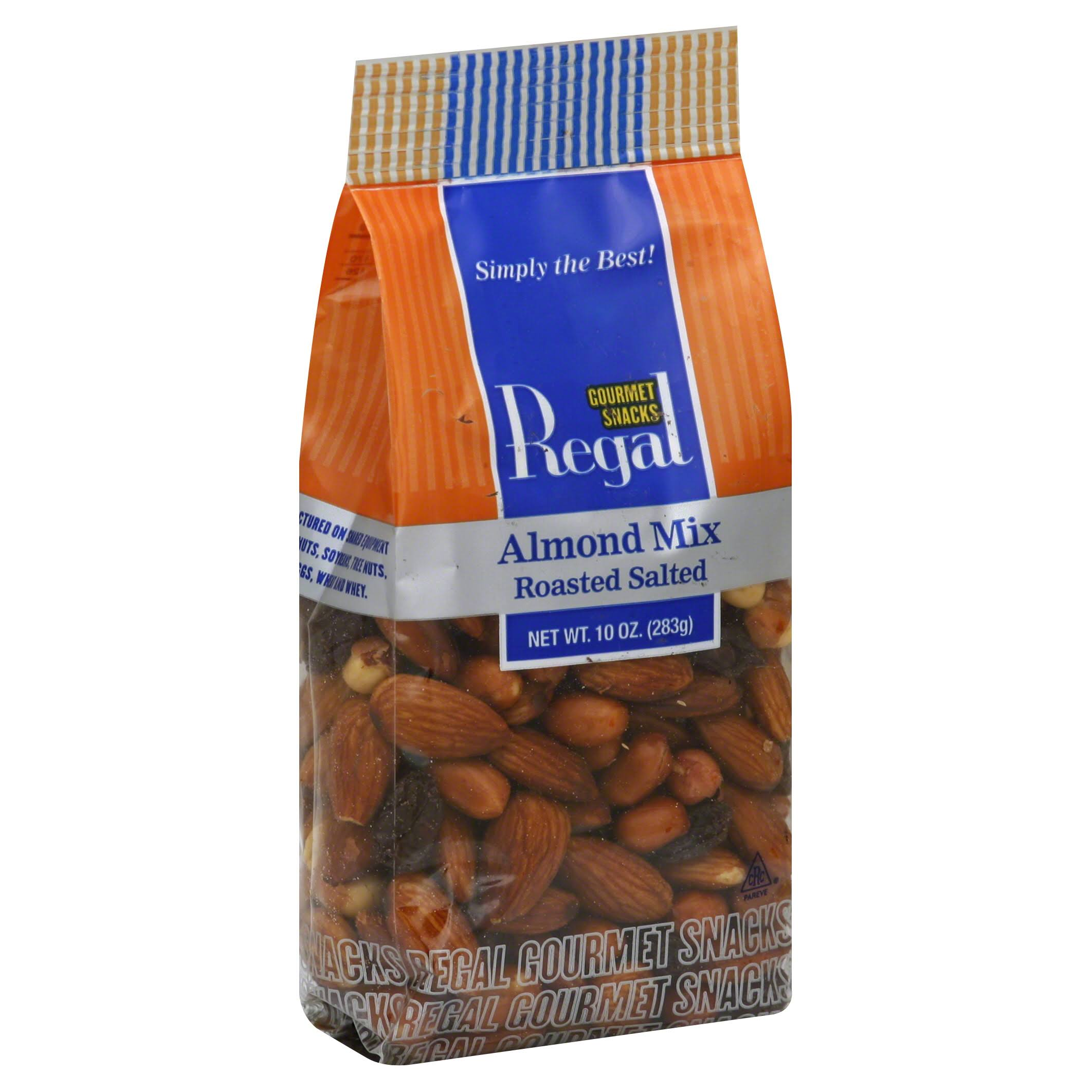 Regal Almond Mix, Roasted Salted - 10 oz