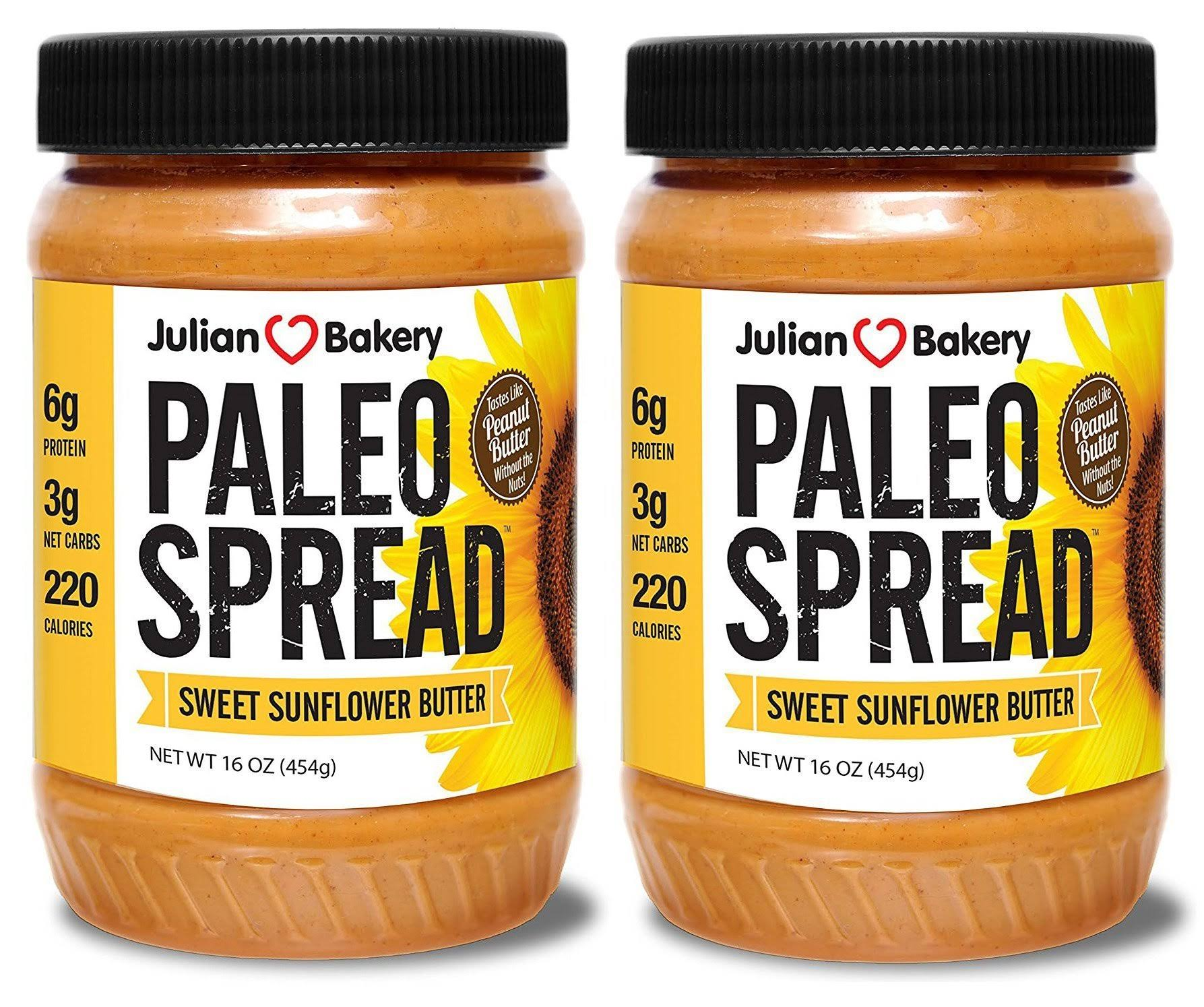 Julian Bakery Paleo Thin Spread Sweet Sunflower Butter