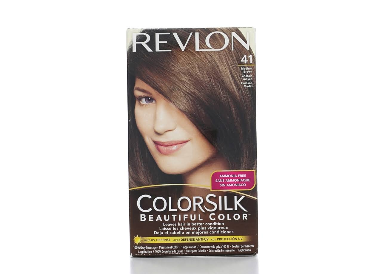 Revlon ColorSilk Beautiful Permanent Hair Color - 41 Medium Brown