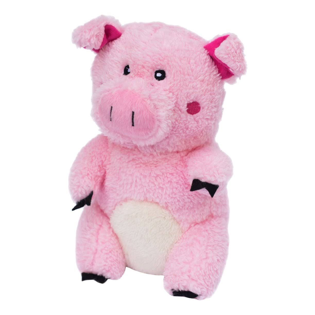 ZippyPaws Cheeky Chumz Plush Dog Toy, Pig
