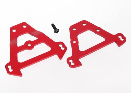 Traxxas Bulkhead Tie Bars Front & Rear (Red-Anodized Aluminum)