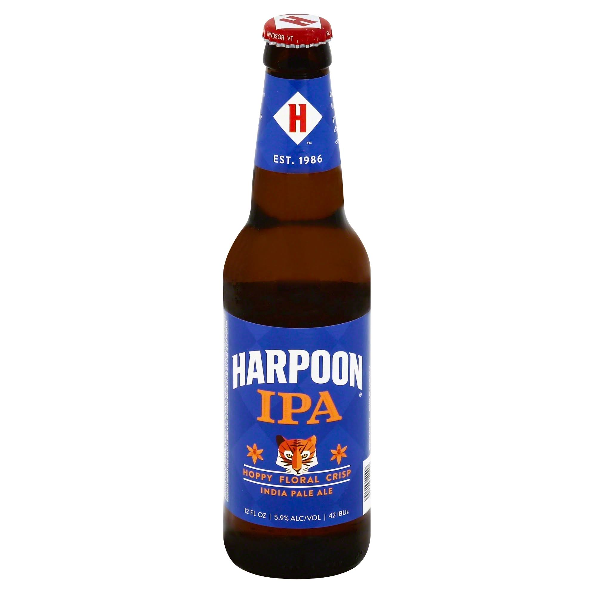 Harpoon India Pale Ale, Hoppy Floral Crisp - 12 fl oz