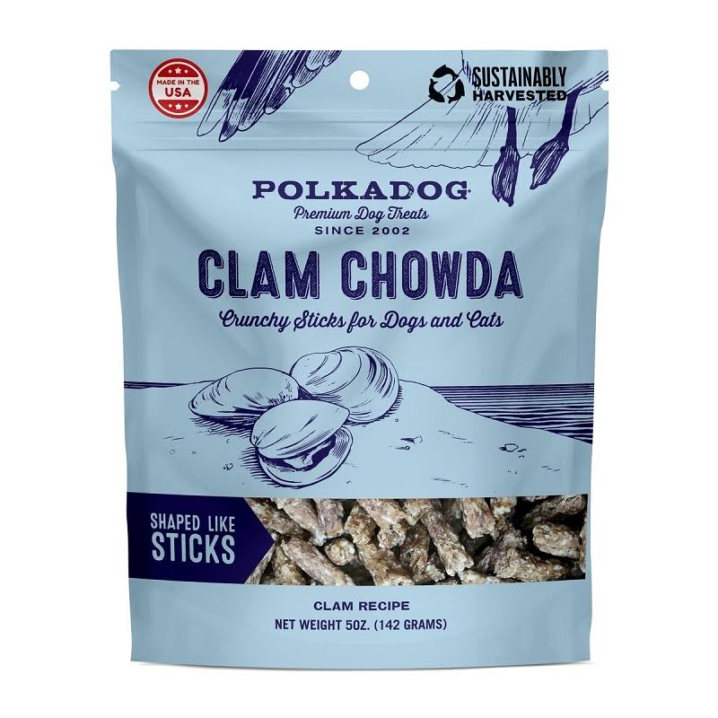 Polka Dog Bakery Clam Chowda Dog Treats 5oz