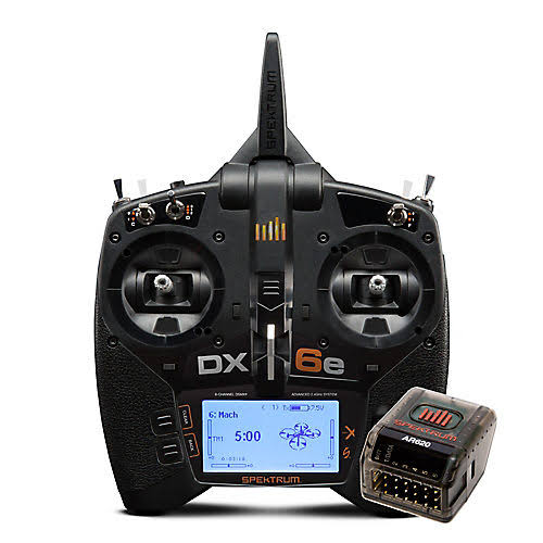Spektrum DX6e 6-Channel DSMX Transmitter with AR620 SPM6655