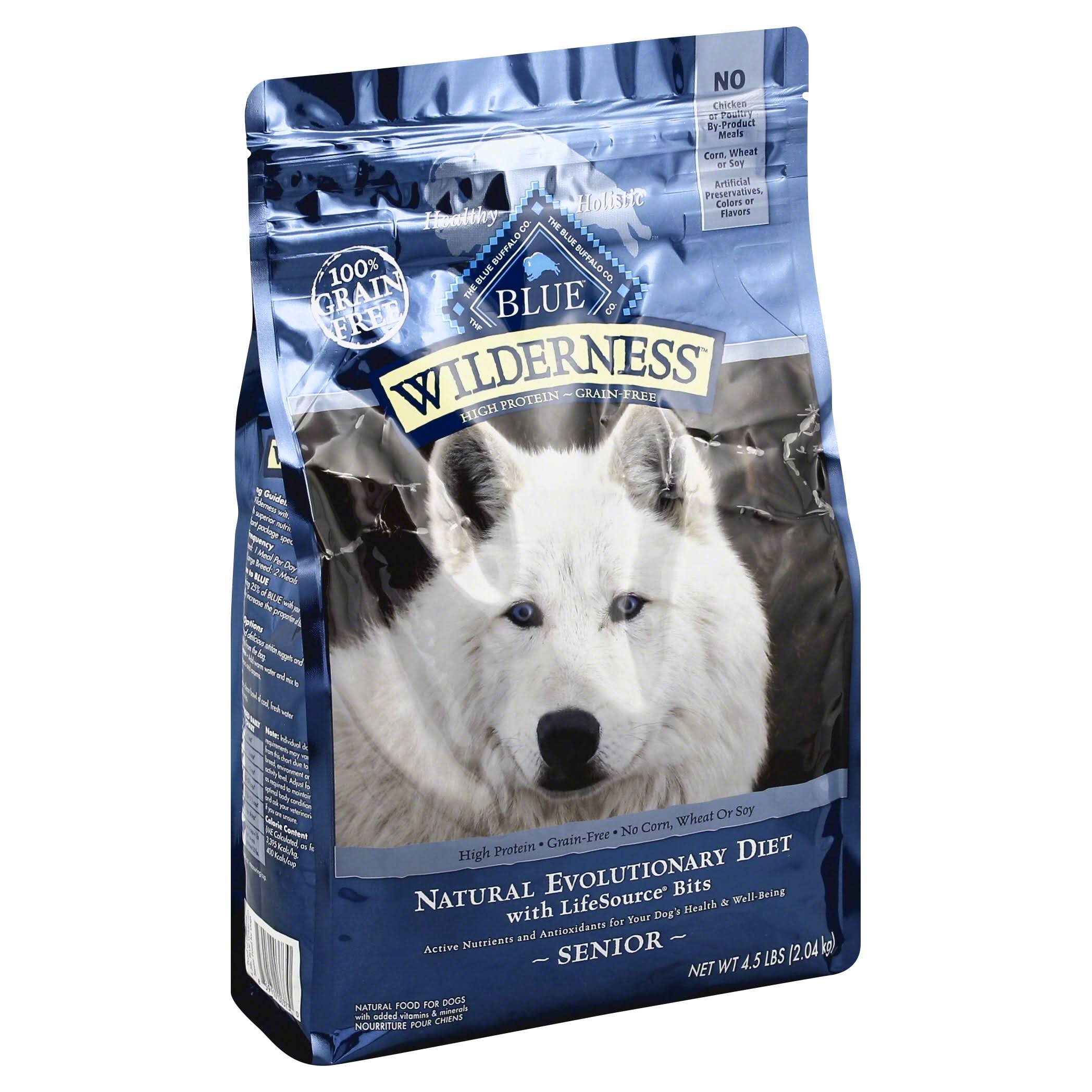 Blue Buffalo Wilderness High Protein Dry Senior Dog Food - 4.5lb