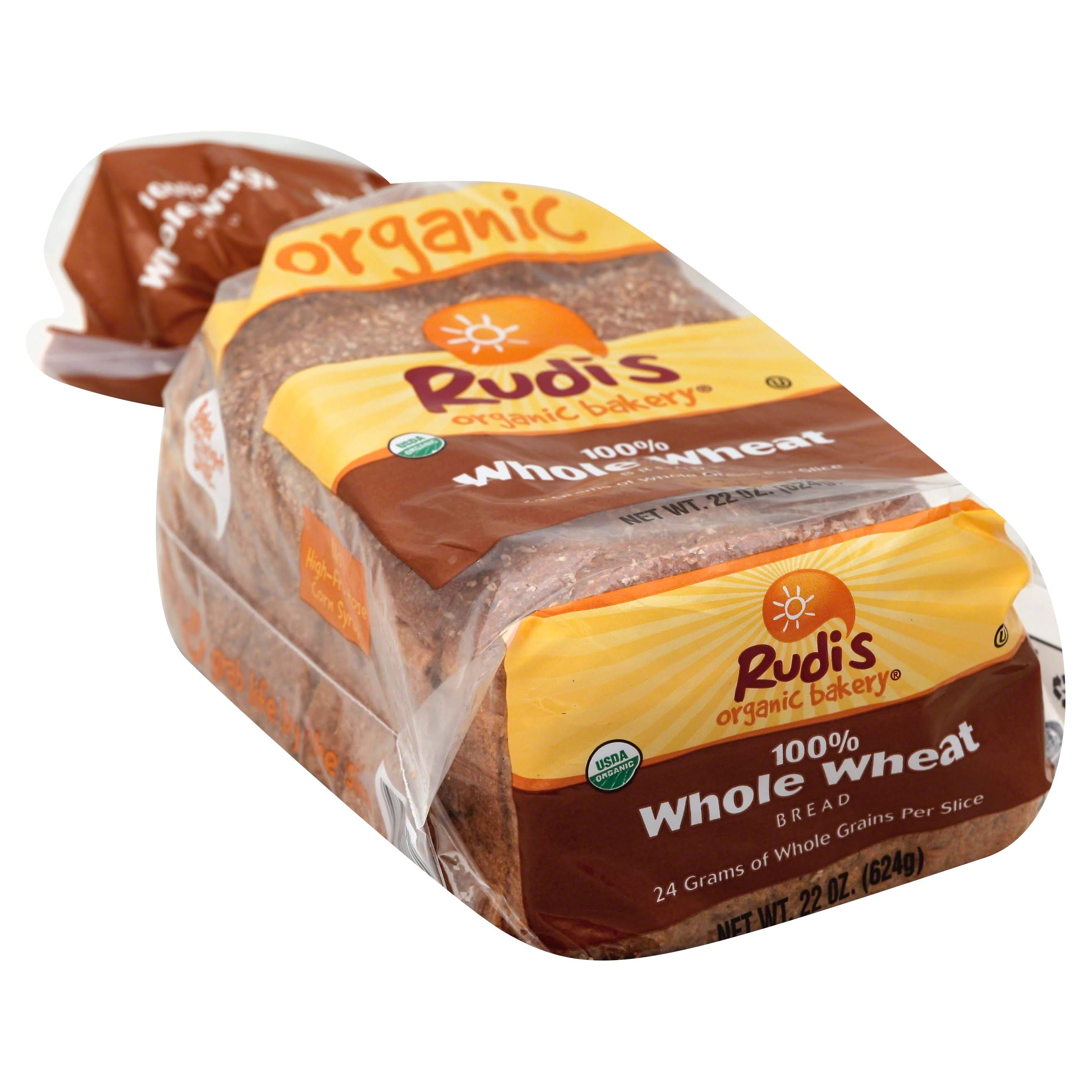 Rudi's Organic Bakery Bread - Whole Wheat, 22oz