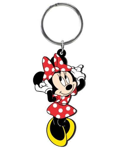 Disney Mickey Mouse Soft Touch PVC Key Ring: Minnie