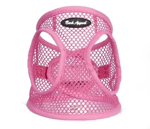 Bark Appeal PPNEW-S Netted EZ Wrap Harness Pink - Small