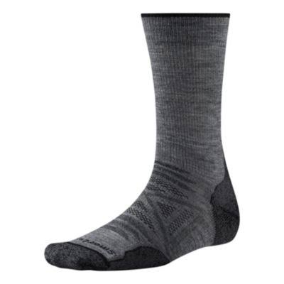 SmartWool PhD Outdoor Light Crew Sock - Medium, Gray
