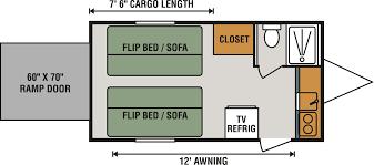 5th Wheel Toy Hauler Floor Plans by 2017 Kz Rv Venom V4020dq Fifth Wheel Toy Hauler Cargo Area Kz Toy